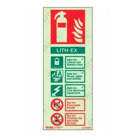 Firechief Lith-Ex Fire Extinguisher ID Sign - Photoluminescent Rigid PVC