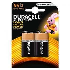 Duracell PP3 Alkaline Battery - Pack of 2 - MN1604 9V