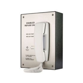 Channel Safety R/CH/ORB/R/RS2/S 2 Way Disabled Refuge Panel - Radial Wiring Version - Surface Mounting