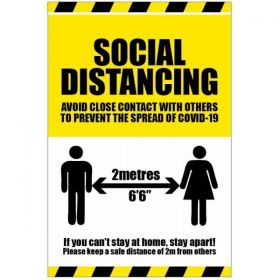 Coronavirus Covid-19 Social Distancing Floor Graphic - 58562