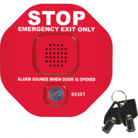 STI-6405 Exit Stopper with Momentary Reset - Red