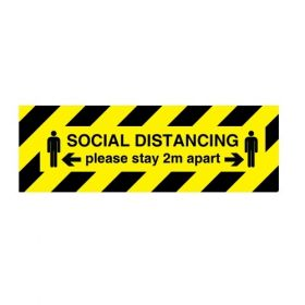 Jalite Coronavirus Social Distancing - Please Stay 2m Apart Sign - 100 x 300mm - W7092PT