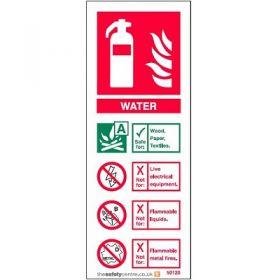 Water Fire Extinguisher ID Sign - Rigid PVC - 50120R
