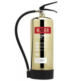 Commander Contempo 6Ltr Water Fire Extinguisher - Polished Gold - WSEX6PG