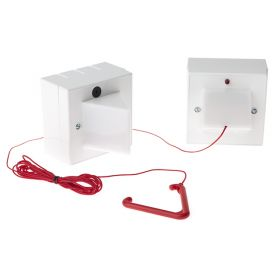 Wireless Disabled Toilet Alarm System Kit - Includes Ceiling Pull Unit & Sounder Beacon Receiver - WTA-KIT