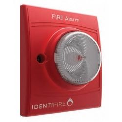 Vimpex 10-1110RFW-S Identifire Sounder VID Beacon - Red Body White Lens - Flush Mounted Version