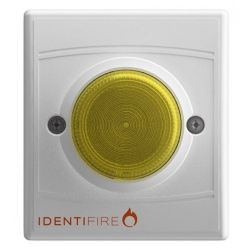 Vimpex 10-1110WFA-S Identifire Sounder VID Beacon - White Body Amber Lens - Flush Mounted Version