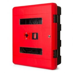 Firechief Double Fire Extinguisher Cabinet With Key Lock - 106-1158