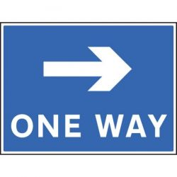 One Way Sign With Right Arrow - 400 x 300mm - 17508K
