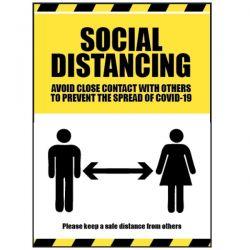 Social Distancing Sign For Coronavirus Covid-19 - 18283K