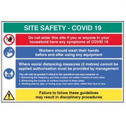 Coronavirus Building Site Safety Sign - Rigid Plastic - 18458W