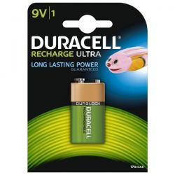 Duracell Duralock Rechargeable 9V Battery - Pack of 1 - HR22