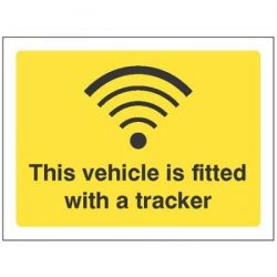 This Vehicle Is Fitted With A Tracker Label - 21826E