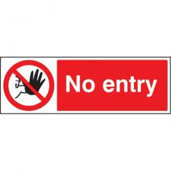 No Entry Sign - Self-Adhesive Vinyl - 300 x 100mm - 23213G