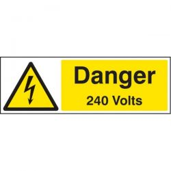 Danger 240 Volts Sign - Self-Adhesive Vinyl - 24001G