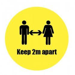 Coronavirus Keep 2m Apart Social Distancing Sticker - 28435F