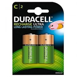 Duracell Duralock Rechargeable C Size Batteries - Pack of 2 - HR14
