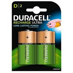 Duracell Duralock Rechargeable D Size Batteries - Pack of 2 - HR20
