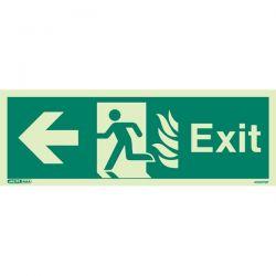 Jalite 409HTM K NHS Exit Sign - Left Hand Arrow - 150 x 400mm
