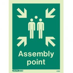 Jalite 4128D Assembly Point Location Sign - Photoluminescent - 150 x 200mm