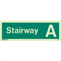 Jalite 4702PT Photoluminescent Stairway A Staircase Identification Sign