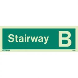 Jalite 4703PT Photoluminescent Stairway B Staircase Identification Sign