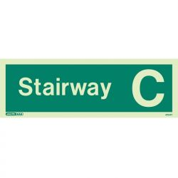 Jalite 4704PT Photoluminescent Stairway C Staircase Identification Sign