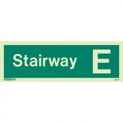 Jalite 4706PT Photoluminescent Stairway E Staircase Identification Sign