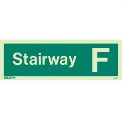 Jalite 4707PT Photoluminescent Stairway F Staircase Identification Sign