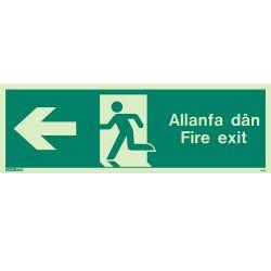 Jalite Allanfa Dan Fire Exit Sign - Left Arrow - 483U