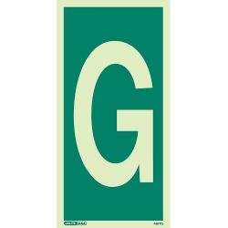 Jalite 4877G Letter G Photoluminescent Assembly Point Designation Sign