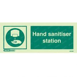 Jalite 4933M Hand Sanitiser Station Sign - Rigid PVC