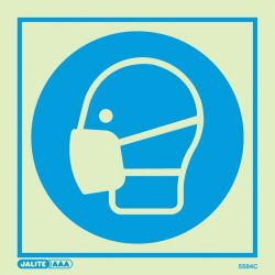 Jalite 5584C Photoluminescent Wear Mask PPE Safety Sign