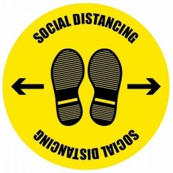Coronavirus Social Distancing Generic Floor Graphic 400mm Diameter - 58280
