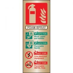 Brass Foam Fire Extinguisher ID Sign - 59179