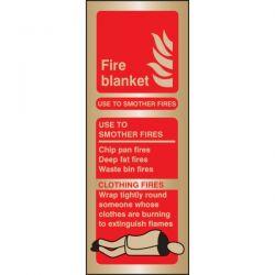 Brass Fire Blanket ID Sign - 59181