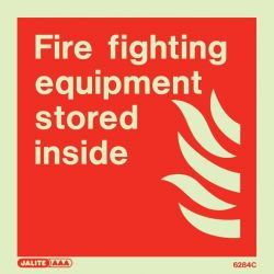Jalite 6284C Fire Fighting Equipment Stored Inside Sign - Photoluminescent - 150 x 150mm