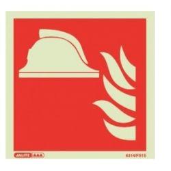 Jalite 6314 A Fire Point Location Sign - Photoluminescent - 100 x 100mm (Rigid PVC Version)