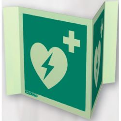 Jalite 4347P20 Panoramic First Aid Point Sign - Photoluminescent - 200 x 200mm