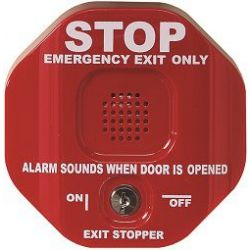 STI-6401 Exit Stopper with Delay and Automatic Reset Feature - Red