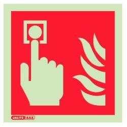 Jalite 6421C Fire Alarm Call Point Sign - Photoluminescent - 150 x 150mm
