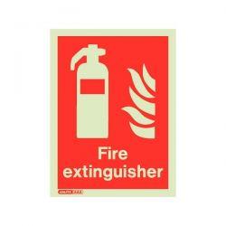 Jalite 6490DD Fire Extinguisher Location Rigid PVC Sign