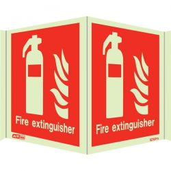 Jalite 6490P15 Wall Mounted Panoramic Fire Extinguisher Sign