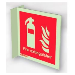 Jalite 6490FS15 Wall Mounted Double Sided Fire Extinguisher Sign