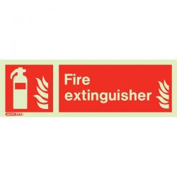 Jalite 6490M Photoluminescent Fire Extinguisher Location Sign 80x200mm