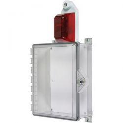 STI-7525 Control Panel Enclosure With Alarm Flashing Strobe And Thumb Lock