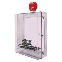STI-7553MED AED Defibrillator Enclosure With Alarm And Thumb Lock