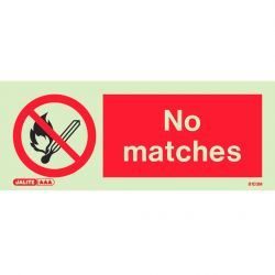 Jalite 8103M No Matches Sign 80mm x 200mm