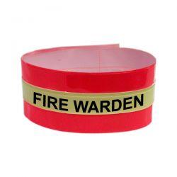 Fire Warden Armband - Hi Visibility Photoluminescent Material Jalite AB3020