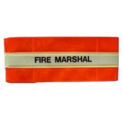 Fire Marshal Armband - Hi Visibility Photoluminescent Material Jalite AB3021